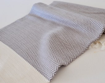 Kitchen Towel Hand Towel Peshkir Vermicelli pattern in light grey color