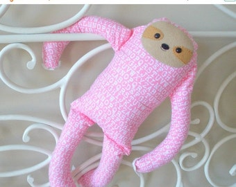 BACK 2 SCHOOL SALE Sloth Stuffed Animal - Large Animal Plush - A Bit of Whimsy Doll