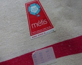 6 Unused, Vintage Tea Towels,  French Traditional  Metis Red White  Brand Fleur Bleue