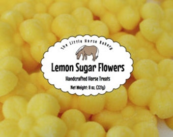 Shipping Included - Lemon Sugar Flowers Horse Treats - 8 oz.