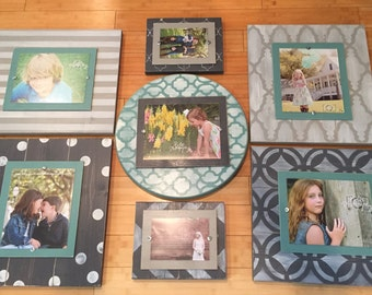 Huge Wall Gallery, Distressed Picture Frames, Wall Collage, Picture Frame Grouping, Set of Frames, Unique Wall Decor