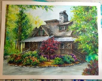 CUSTOM House Painting | Watercolor | Medium Sizes