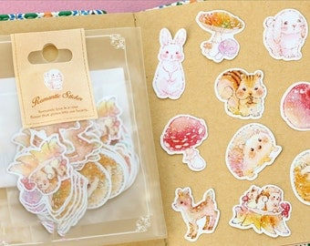 Diary Scrapbook Sticker Label Pack Little Animal