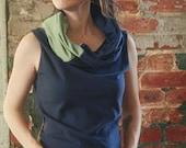 eco friendly organic tank top hippie patchwork cowl infinity hood custom handmade