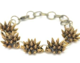 SALE // 40% off // spike bracelet // oxidized bronze