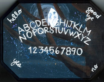 Custom Painted Glow-in-the-Dark Spirit Board