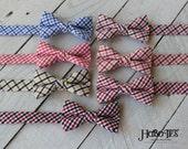 Boys Tattersall Bow Ties~Boys Bow Tie~Boys Plaid Bow Ties~Cotton Bow Tie~Church Tie~Plaid Bow Tie~Wedding~Ring Bearer~Gift~Christmas Tie