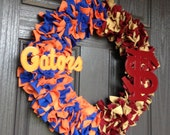 "18"" (Large) House Divided Wreath Florida/Florida State"