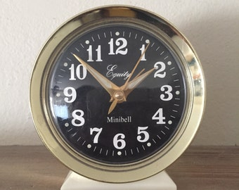 Vintage Equity Minibell Alarm Clock