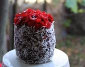 Vegan Mini Chocolate Mocha Coconut cake, Natural,healthy ingredients,Love and Compassion,Birthday,Wedding.