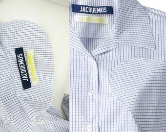 """JACQUEMUS  """"la chemise carreaux"""" Grid Print Cotton Shirt Dress"""