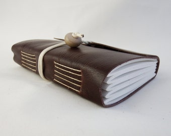 Brown Leather Journal Notebook Hand Bound Sketchbook