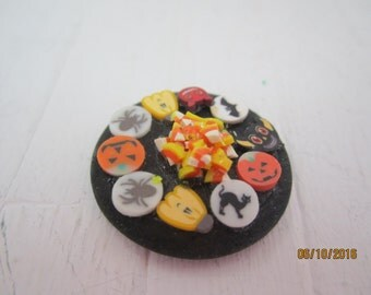 Dollhouse Miniature Halloween Cookie Tray     Free Shipping
