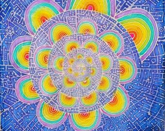 8.5x11in Photo Print of Triametes Versicolor Batik Tapestry - Original Artwork