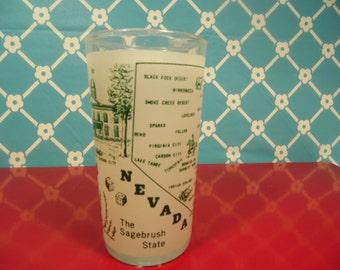 Nevada State Glass - Hazel Atlas - 8 Oz. - Retro Graphics