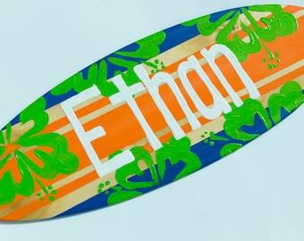Surfboard Wall Decor, Surf Decor, Surf Board Art