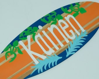 Baby Surfer Decor, Surfboard Wall Art, Boys Surfing Sign