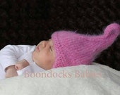 White and pink cupcake hat size 18 months
