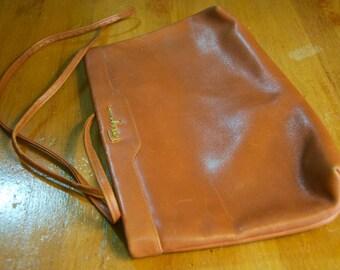 Vintage Authentic Salvatore Ferragamo Leather Envelope Bag