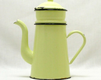 French Cafetiere, Cafetiere, Coffee Perculator, Coffee Pot, French Coffee Pot, Large Coffee Pot, Enamel Coffee Pot, Perculators (4298)