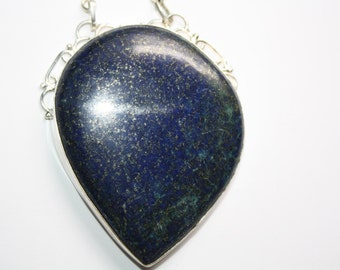 Vintage Sterling Lapis Lazuli Necklace 21 inches