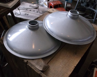 PAIR of Vintage Industrial Light Shades by Steber - Barn, Shop Light