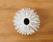 Spiky Urchin Ceramic Vase ~ Modern Ceramics Spikes Vase ~ Minimal White Ceramic Sculpture Flower Vase ~ White Modern Studio Pottery Handmade
