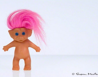 Troll Doll Art, Modern Art Photograph, Troll Doll Photograph, Wall Art, Still Life Photograph, Pink Hair, Contemporary Fine Art Photo Print