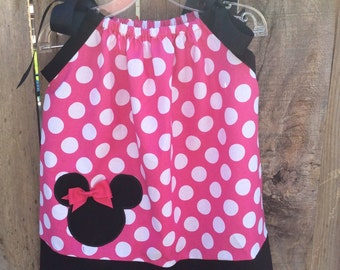 Minnie Mouse Pillowcase Dress in Pink