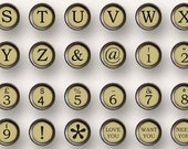 16mm IVORY TYPEWRITER KEYS for bottle caps  jewelry cufflinks magnets paper crafts buttons scapbooking journalling MagentaBelle 149