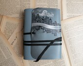 Journal - Blue Leather Notebook, Diary - Leather Journal - The Old Street