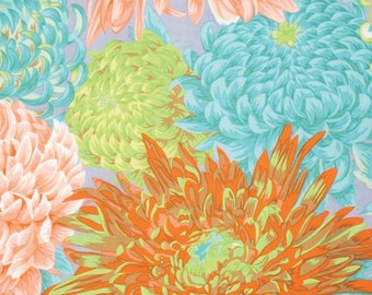 Philip Jacobs for Rowan and Westminster Fibers - Japanese Chrysanthemum - Quilt Fabric - FQ - Fat Quarter Cotton Quilt Fabric 516