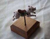 Alice DeCaprio Die Cast Wood Pig Figurine Merry Go Round Toy vintage