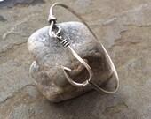 Sterling silver jewelry, Fish hook bangle bracelet