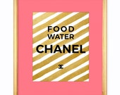 Printable Art | Print Art DIY | Chanel Print | Printable Quotes | Printable Wall Art Black White and Gold 8x10 Digital Download COCO CHANEL