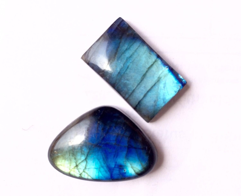 Spectrolite Labradorite Gemstones Free Form Hand Polished