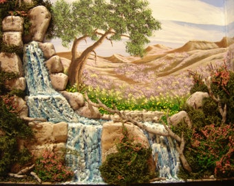 Original sculpted dimensional painting OOAK.
