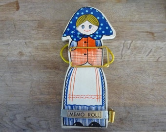 Vintage Kitsch French Memo Note Board Reminder In Painted Wood