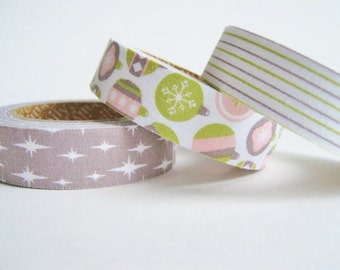Fabric Tape, set of 3 Celebrate