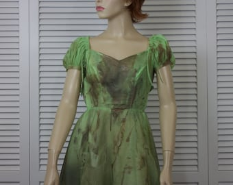 Vintage Zombie Dress Girls/Juniors Size 31/20/42 Green