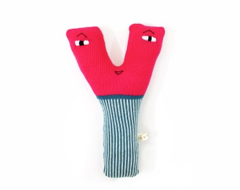 Letter Y - soft knitted toy