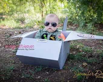 Maverick costume, Baby Top Gun costume, Baby Flight suit (Newborn-12m), Baby airman, Baby Pilot suit, Baby Pilot uniform,  baby uniform
