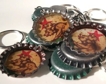 Fallout New Vegas NCR - New California Republic - Bottle cap keyring