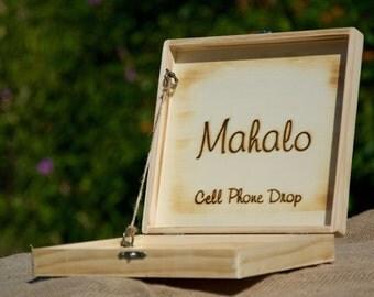 Personalized Rustic Box~Rustic Gift Box~Natural Rustic Cigar Box-Wedding-Groomsmen Gift-Wedding Decor-Home Cell Phone Box/Holder-Home Decor