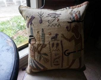 Antique Vintage pillow, decorative pillow, Egyptian revival