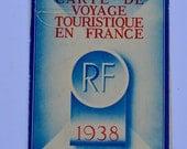 1938 Carte de Voyage Touristique en France Republique Francaise French Passport Vintage Ephemera Doris Keen London