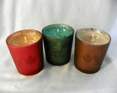 Autumn leaves candles