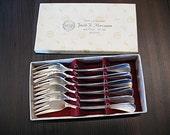 Set of 6 Danish Sterling Silver Forks