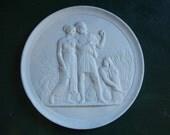 "Royal Copenhagen ""Ages of Man - Fall"" wall plaque"