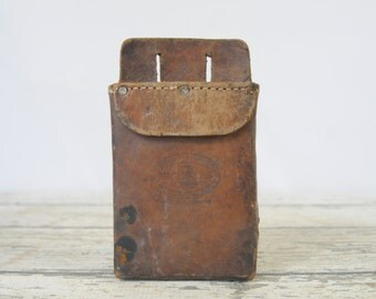 Vintage Leather Nicholas Tool Belt Pouch, Bag Leather Tool Holder
